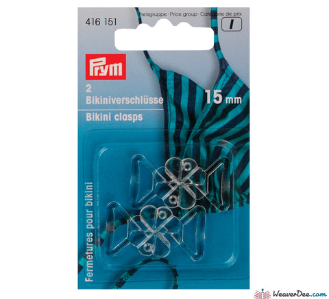 Prym - Bikini Clasps / Clover Leaf Shape / Transparent Plastic - WeaverDee.com Sewing & Crafts