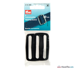 Prym - Adjusting Buckles Plastic 50mm Black (Pk of 2) - WeaverDee.com Sewing & Crafts - 1