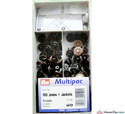 PRYM Jeans Buttons Antique Copper 17mm (No-Sew): Pack of 100