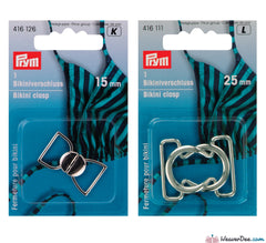 Prym - Bikini Clasps Metal Silver Colour - WeaverDee.com Sewing & Crafts
