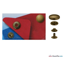 Prym - Press Studs (No-Sew) - Antique Brass 12mm - WeaverDee.com Sewing & Crafts - 1