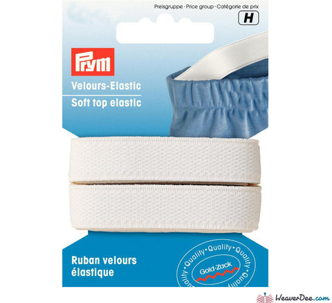Prym - Soft Top Elastic / White - WeaverDee.com Sewing & Crafts