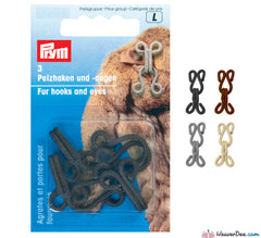 Prym - Fur Hook & Eyes - WeaverDee.com Sewing & Crafts