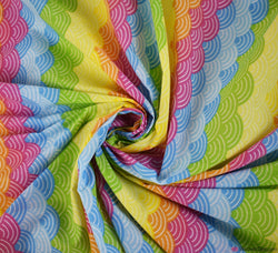 Poly Cotton Fabric - Rainbow Arches