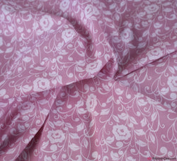 Premier Print Poly Cotton Fabric - Regal Flowers Pink
