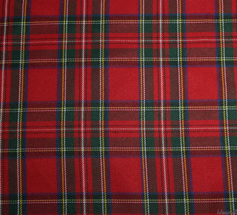 WeaverDee - Polyviscose Tartan Fabric / Royal Stewart - WeaverDee.com Sewing & Crafts - 1