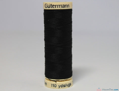 Gütermann - Sew-All Polyester Sewing Thread [000 Black] - WeaverDee.com Sewing & Crafts - 1