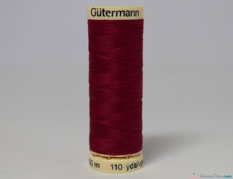 Gütermann - Sew-All Polyester Sewing Thread [384 Deep Red] - WeaverDee.com Sewing & Crafts - 1