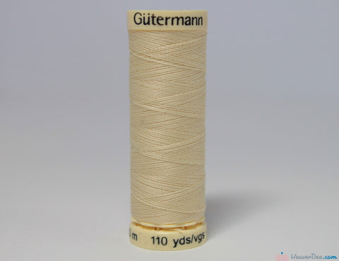 Gütermann - Sew-All Polyester Sewing Thread [610 Cream] - WeaverDee.com Sewing & Crafts - 1