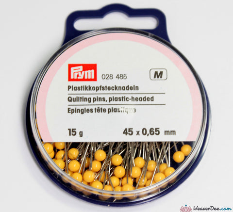 Prym - 45mm Plastic-Head Quilting Pins (15g Pack) - WeaverDee.com Sewing & Crafts - 1
