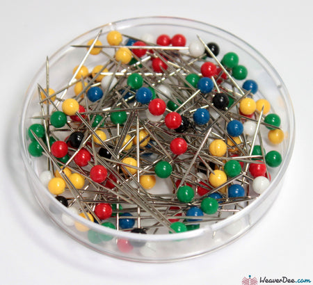 Prym - 34mm Plastic-Head Pins (15g Pack) - WeaverDee.com Sewing & Crafts - 1