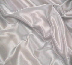 WeaverDee - Liquid Satin Fabric / Silver - WeaverDee.com Sewing & Crafts