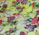 WeaverDee - Silky Satin Fabric - Lemon Floral Dreamscape - WeaverDee.com Sewing & Crafts - 5