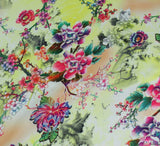 WeaverDee - Silky Satin Fabric - Lemon Floral Dreamscape - WeaverDee.com Sewing & Crafts - 7