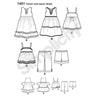 Simplicity Pattern S1451 Toddlers' Dresses, Top, Cropped Pants & Shorts
