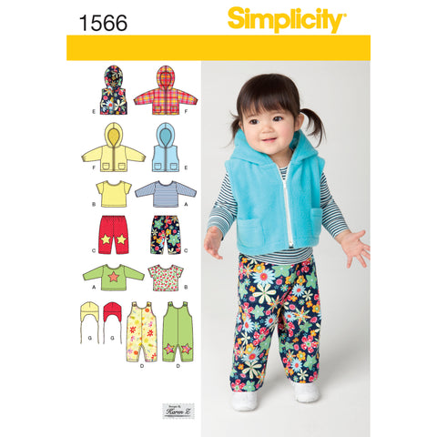 Simplicity Pattern S1566 Babies' Separates
