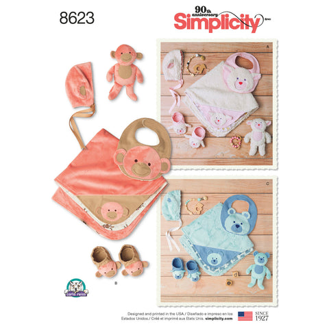 Simplicity Pattern S8623 Baby Accessories