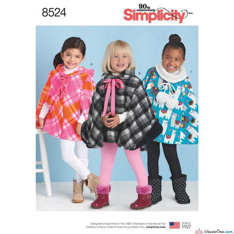 Simplicity Pattern S8524 Child's Poncho
