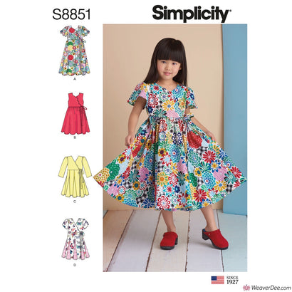 Simplicity Pattern S8851 Children's Dresses