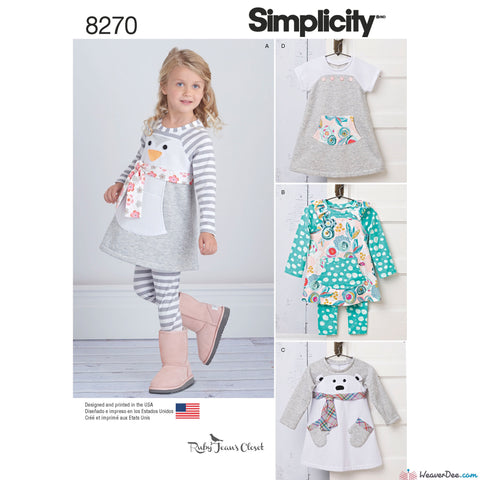 Simplicity - S8270 Toddlers' Knit Sportswear from Ruby Jean's Closet - WeaverDee.com Sewing & Crafts - 1