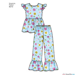 Simplicity - S8272 Child's / Girl's Sleepwear & Robe - WeaverDee.com Sewing & Crafts - 1