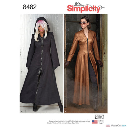 Simplicity Pattern S8482 Misses' Steampunk Matrix Vampire Costume Coats