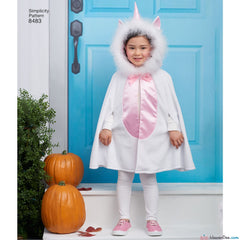 Simplicity Pattern S8483 Child's Cape Costumes
