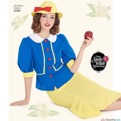 Simplicity Pattern S8486 Misses' 1930s Snow White Dress & Hat