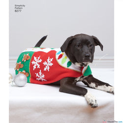 Simplicity - S8277 Christmas / Holiday Theme Fleece Dog Coats & Hats in 3 Sizes - WeaverDee.com Sewing & Crafts - 1