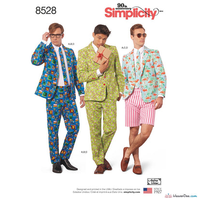 Simplicity Pattern S8528 Men's Costume Suit