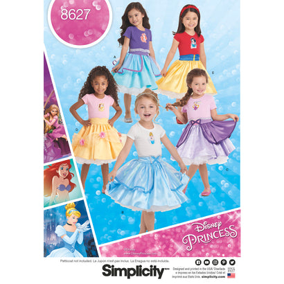 Simplicity Pattern S8627 Child's Disney Character Skirts