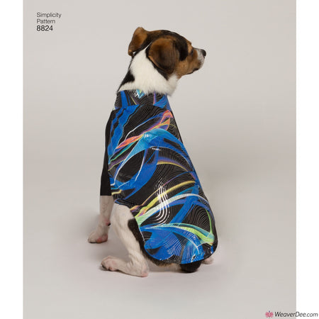 Simplicity Pattern S8824 Dog Coats in 3 Sizes
