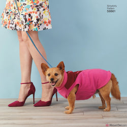 Simplicity Pattern S8861 Dog Coats