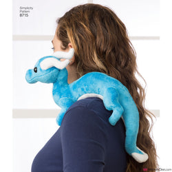 Simplicity Pattern S8715 Stuffed Dragon Toys
