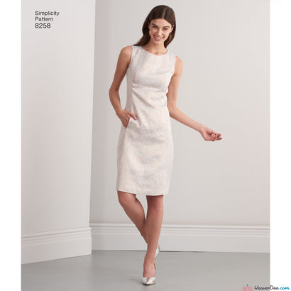 Simplicity - S8258 Misses' & Plus Size Amazing Fit Dress - WeaverDee.com Sewing & Crafts - 1