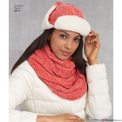 Simplicity Pattern S8812 Misses' Cold Weather Accessories