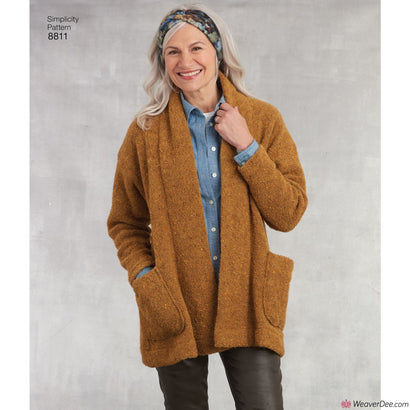 Simplicity Pattern S8811 Misses' Knit Sweater, Scarf & Headband