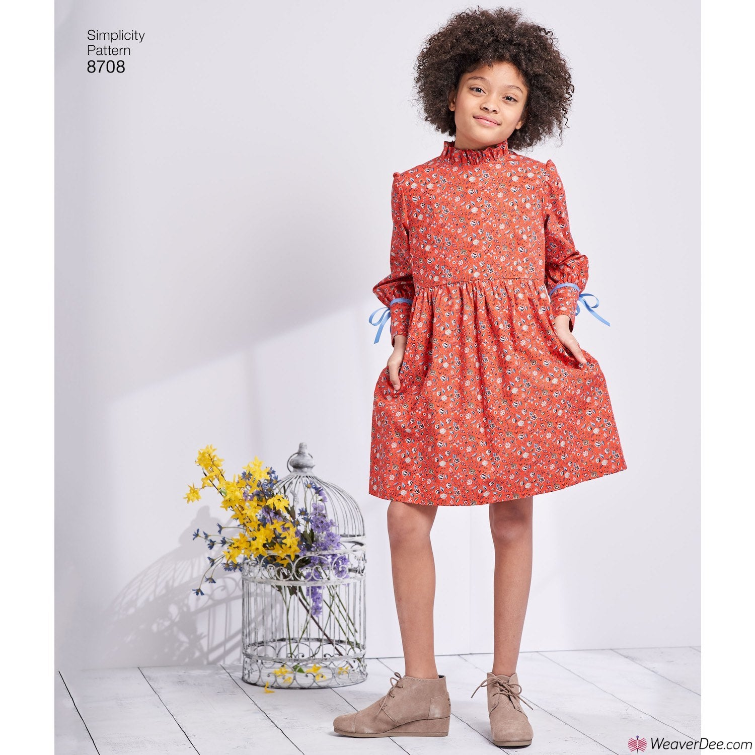 Simplicity Pattern S8708 Child\'s & Girls\' Dress with Sleeve ...