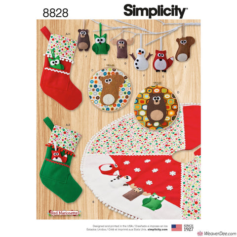 Simplicity Pattern S8828 Animal Christmas Décor