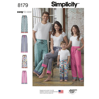 Simplicity - S8179 Child, Teen & Adult Lounge Pant - WeaverDee.com Sewing & Crafts - 1