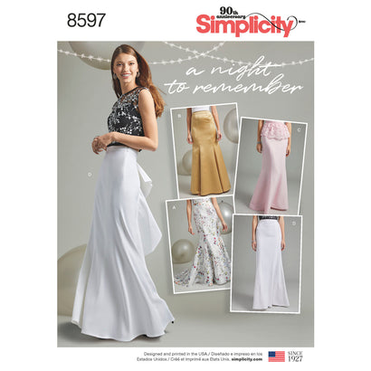Simplicity Pattern S8597 Misses' & Women's Special Occasion Skirts