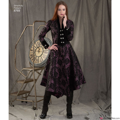 Simplicity Pattern S8769 Misses' Fantasy Cosplay Costume Coats