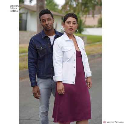 Simplicity Pattern S8845 Mimi G Jean Jacket (Misses', Men's & Teens')