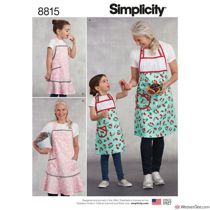 Simplicity Pattern S8815 Children's & Misses' Aprons
