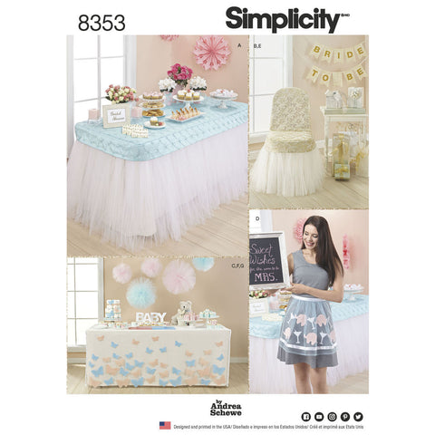 Simplicity Pattern S8353 Party Décor & Accessories