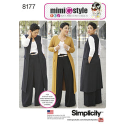 Simplicity - S8177 Mimi G Style Trouser, Coat or Vest, & Knit Top for Miss & Plus Sizes - WeaverDee.com Sewing & Crafts - 1