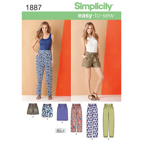 Simplicity Pattern S1887 Misses' Skirts & Trousers