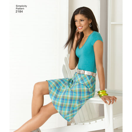 Simplicity - S2184 Misses' Skirts | 2 Hour - WeaverDee.com Sewing & Crafts - 1