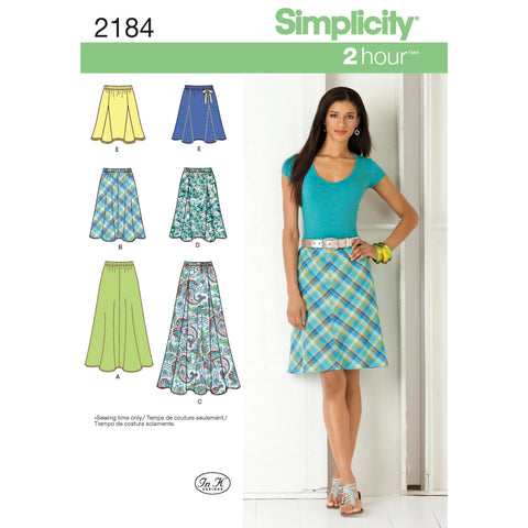 Simplicity Pattern S2184 Misses' Skirts