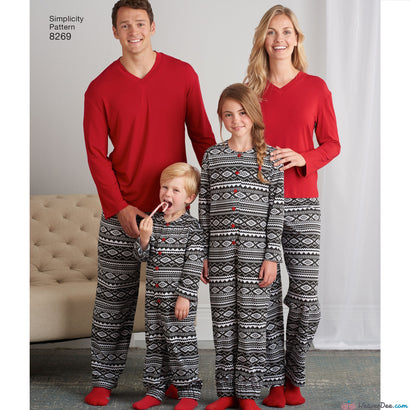 Simplicity - S8269 Family Loungewear Outfits - WeaverDee.com Sewing & Crafts - 1